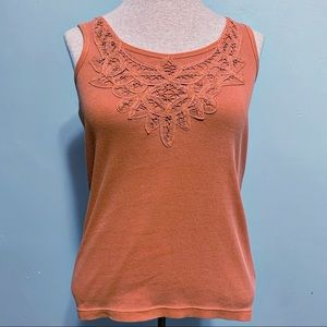 NWT Talbots lace embroidered tank